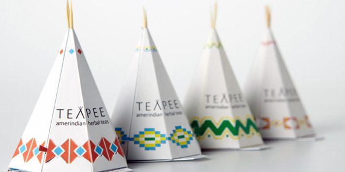 אוהל טיפי  מהווה השראה לאריזת   tea  אמריקני    i like