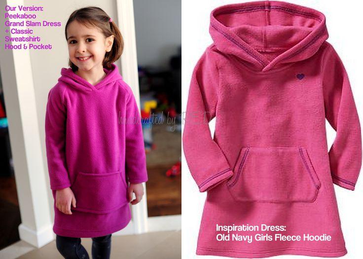 It's Mash-Up Time! A Fleece Sweatshirt Hoodie Dress Tutorial More