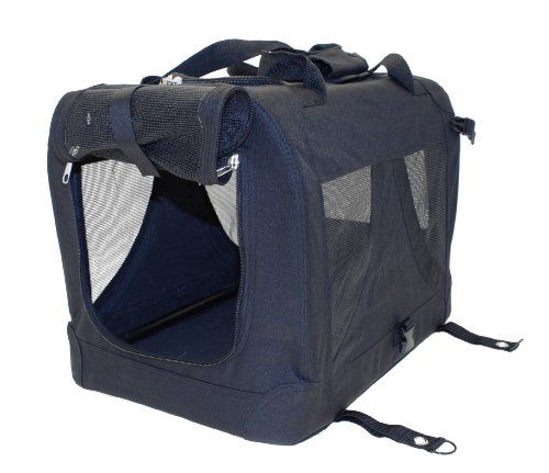 Aus der Kategorie Boxen & Tragetaschen  gibt es, zum Preis von EUR 27,92  <p>Travelling with your pet can sometimes be difficult when they are excitable in the car. To help keep your pet and all those concerned safe, the <strong>Petgear Canvas Pet Carrier</strong> is a great pet travel accessory made of lightweight canvas.</p><p>The canvas is easy to wipe clean after use. The semi-transparent mesh front and sides mean that your pet remains ventilated, whilst remaining secure. The Canvas Pet…