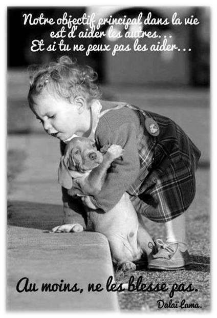 """""""Aider les autres"""" jolie #Citation du Dalai Lama"""