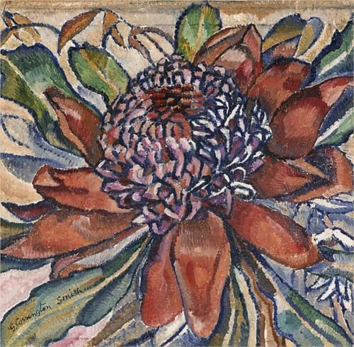 Grace Cossington Smith (1892 - 1984) | Post- Impressionism| Waratah - 1928