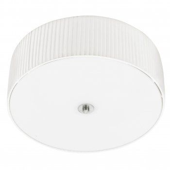 Fortuna 3 Light Ceiling Fitting with White Shade