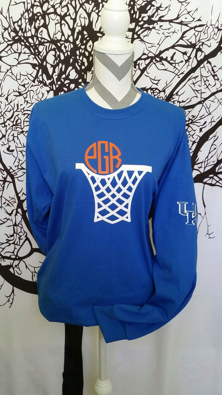 Long Sleeve Monogram Basketball Shirt by JessicaJosMonoNMore on Etsy https://www.etsy.com/listing/265394155/long-sleeve-monogram-basketball-shirt