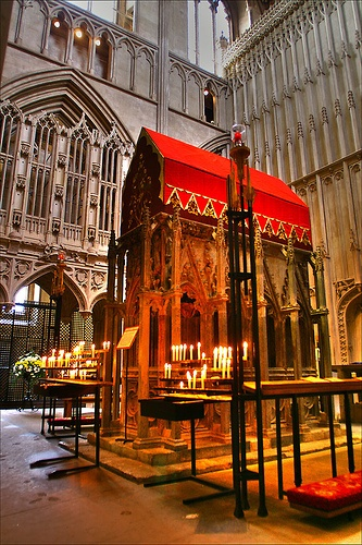 Shrine of St Alban - St Albans Cathedral    #travel