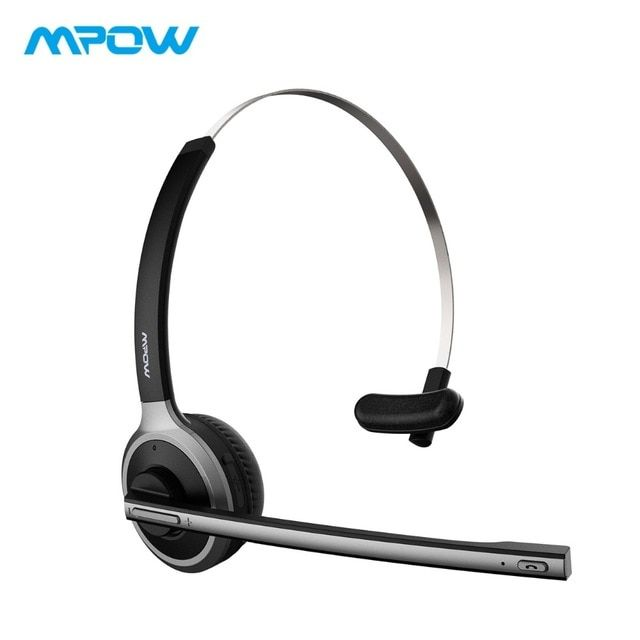 Mpow M5 Bluetooth 4 1 Headset Wireless Over Head Noise Canceling Headphones With C Noise Cancelling Headphones Bluetooth Noise Cancelling Headphones Headphones