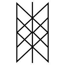 The Web of Wyrd: an ancient Swedish Viking symbol for the matrix of fate. It contains the shapes of all Viking runes. It symbolises how prior actions affect the present and present actions shape the future.