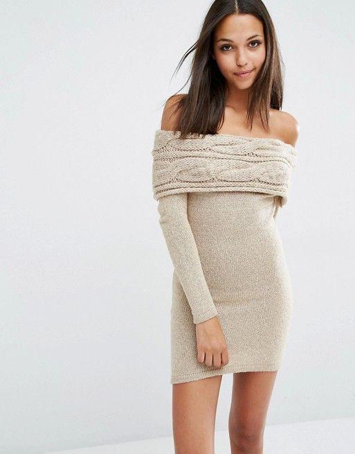 Lipsy | Платье-джемпер с открытыми плечами Michelle Keegan Loves Lipsy