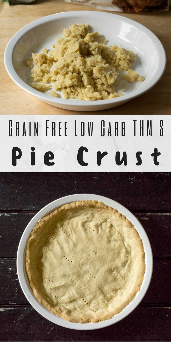 This Easy Low Carb Pie Crust can be either rolled or pressed into a pie plate & works for both sweet and savory recipes. It is gluten free, grain free, THM S.  via @joyfilledeats