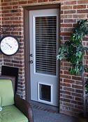 Near One Light  Full Glass Door with Blinds and dog door //Doors4petsandpeople.com
