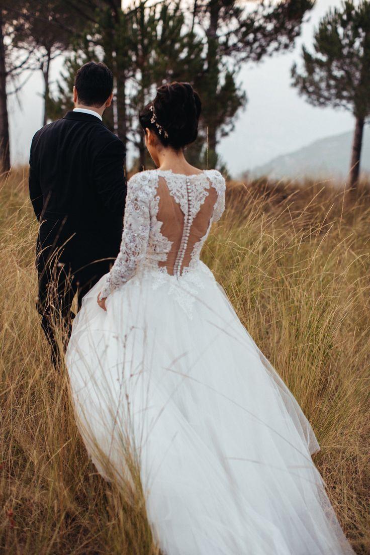 Wedding Dress Trouwen Bruiloft Kant Lace Tulle Zijde Silk Bruidsjurk Trouwjurk