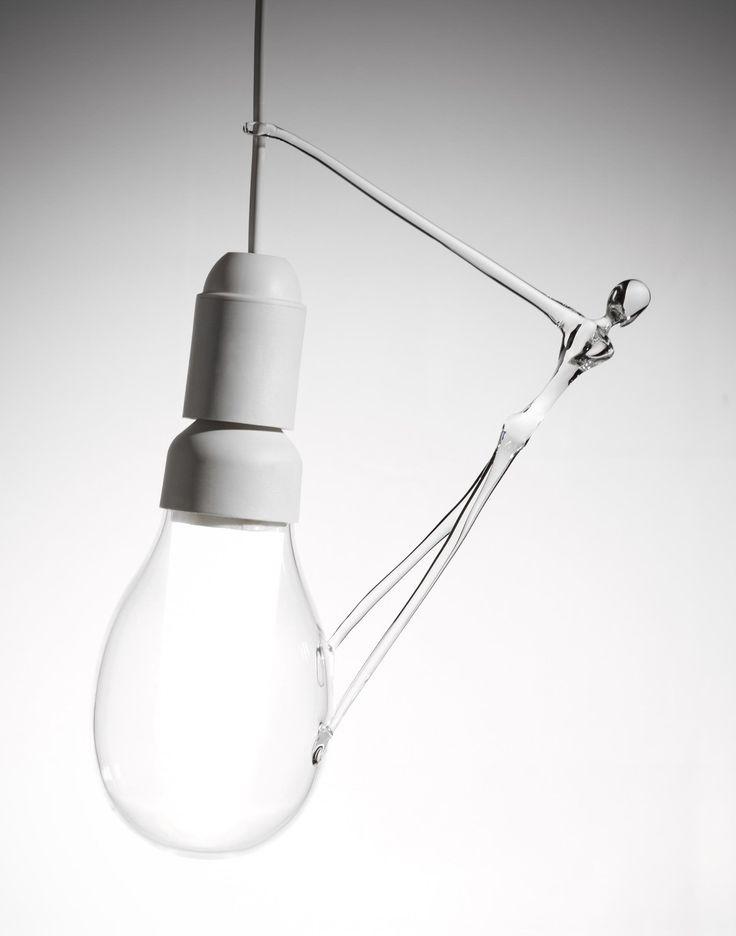 Alex Pinna, Bright Breath, glass lamp, 18x26x8, 2011, ed. 8+1