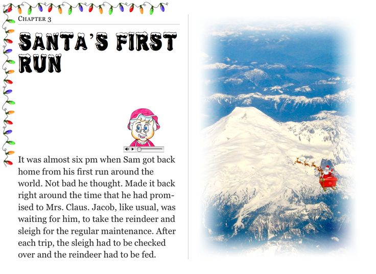 """Chapter 4 """"Santa's First Run"""" (my personal images are used in my #audio #ebooks for #Children 3-7 and #Illustrative #Poetry, available at: https://itunes.apple.com/ca/book/twas-year-that-santa-quit/id1161025863?mt=11 and www.jamesagrove.ca)"""