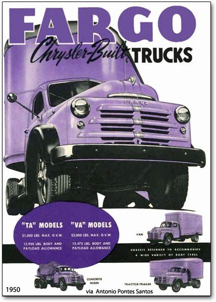 1950 Fargo trucks of Canada.