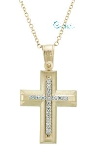 Γυναικείος Σταυρός Χρυσός 14 Καράτια - E-oro.gr ΧΡΥΣΑ ΛΕΥΚΟΧΡΥΣΑ ΚΟΣΜΗΜΑΤΑ