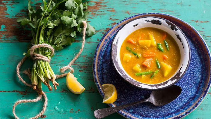Eaten year-round in Colombia, this vegetable soup will boost your spirits and immune system.