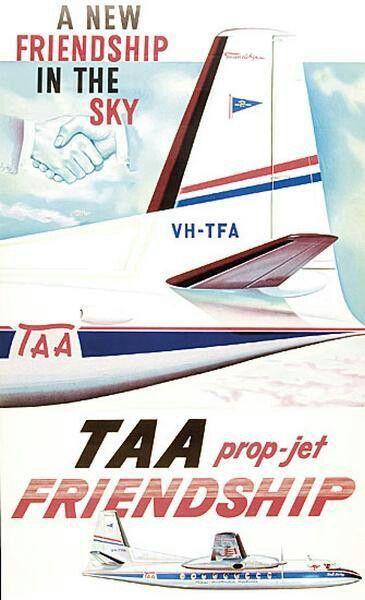 TAA Fokker Friendship Poster
