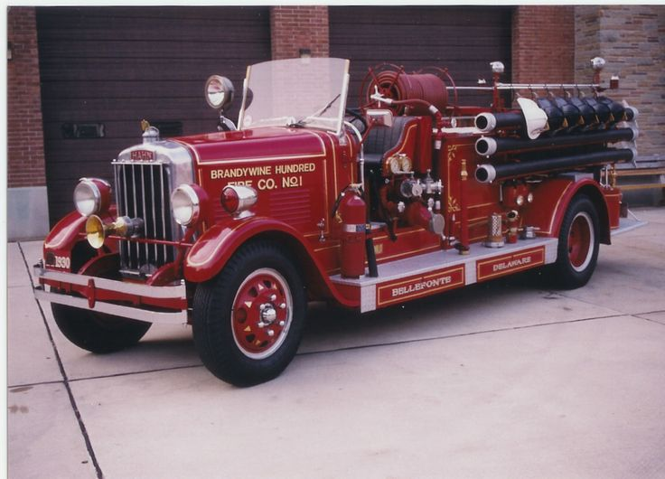 old fire engines | When the engine in our 1930 Hahn antique pumper neededreplacing, we ...