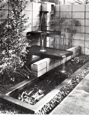 Mid Century Modern Outdoor Fountain