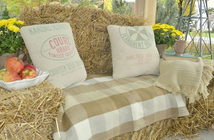 Rustic Hay Bale Lounger