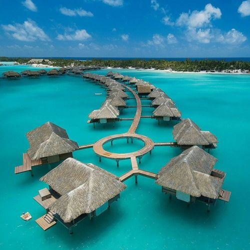 Four Seasons Bora Bora. Unfortuantely I believe this is where the Kardashain's stayed Lol.