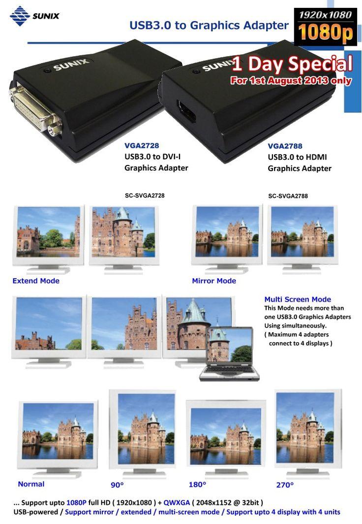 SUNIX USB3.0 to Graphics Adapter
