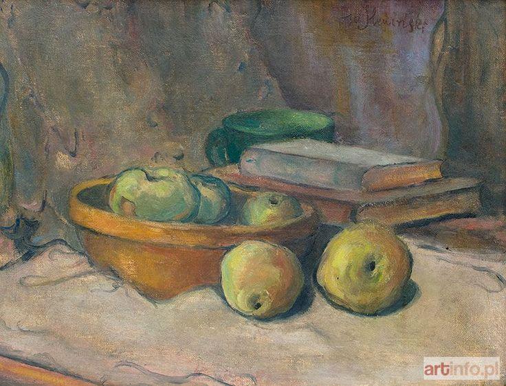 Władysław ŚLEWIŃSKI ● Martwa natura z jabłkami i książkami, lata 1900-1906 ●