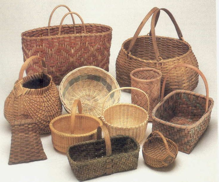 I had a basketweaving business for a couple of years and taught classes also.  These look similar to my baskets....