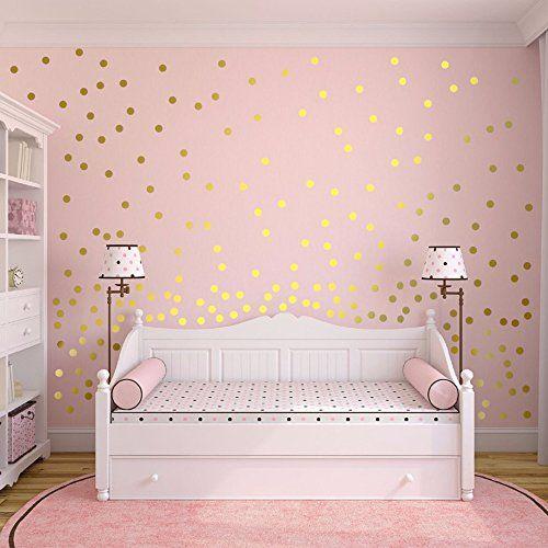 Slivercolor Gold Dot Sticker, Removable Dot Sticker, Decalque em parede para decoração de berçário, 1,2 polegadas, 216 pontos   – schön & anders wohnen