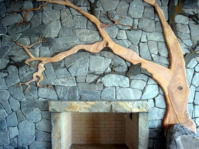 Madrone Fireplace