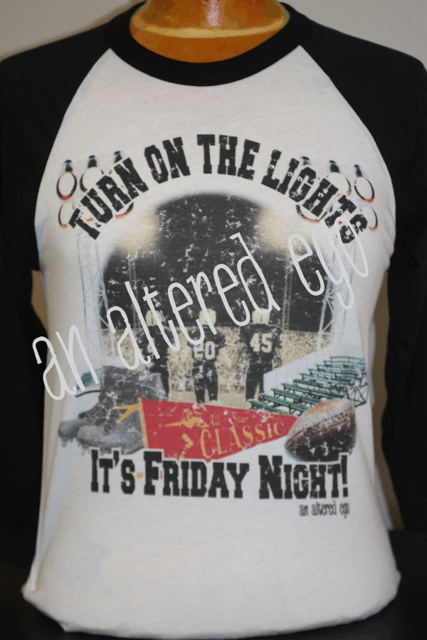 turn on the lights its friday night lights football mom raglan t shirt
