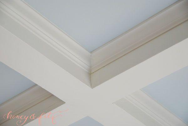 Design tip add moulding detail to boring ceiling beams to for Adding beams to ceiling