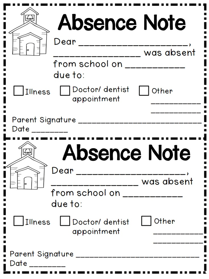 Absent note