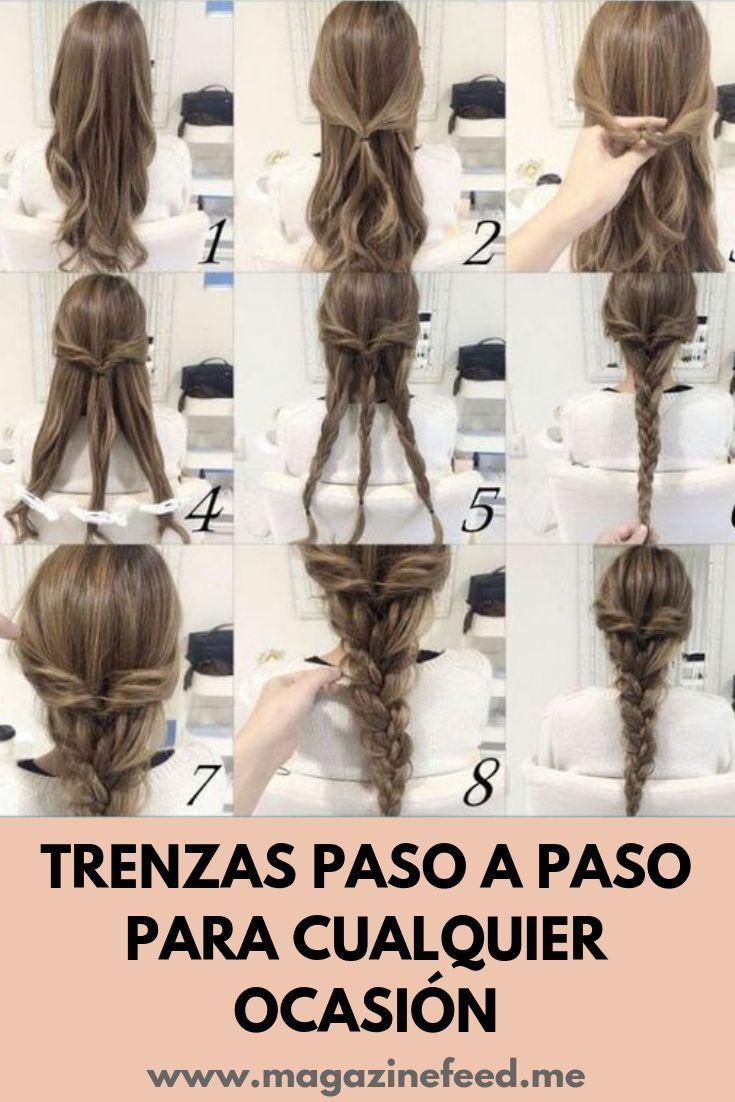 Peinados Con Trenzas Pelo Largo Paso A Paso Trenzas Pelo Largo Peinados Faciles Y Rapidos Peinados Con Trenzas