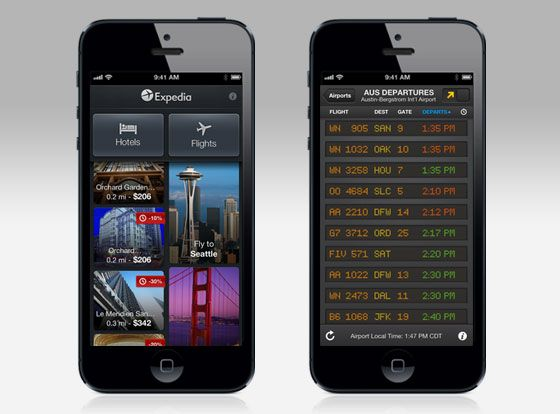 FlightBoard: the perfect app to turn your iPhone into the arrivals and departures board for any airport. / #free #travel