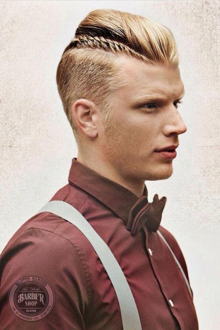 coupe de cheveux homme 2016 , undercut avec tresse et frange en arrière