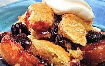 Cherry and Apricot Cobbler Recipe - Details, Calories, Nutrition Information | RecipeOfHealth.com