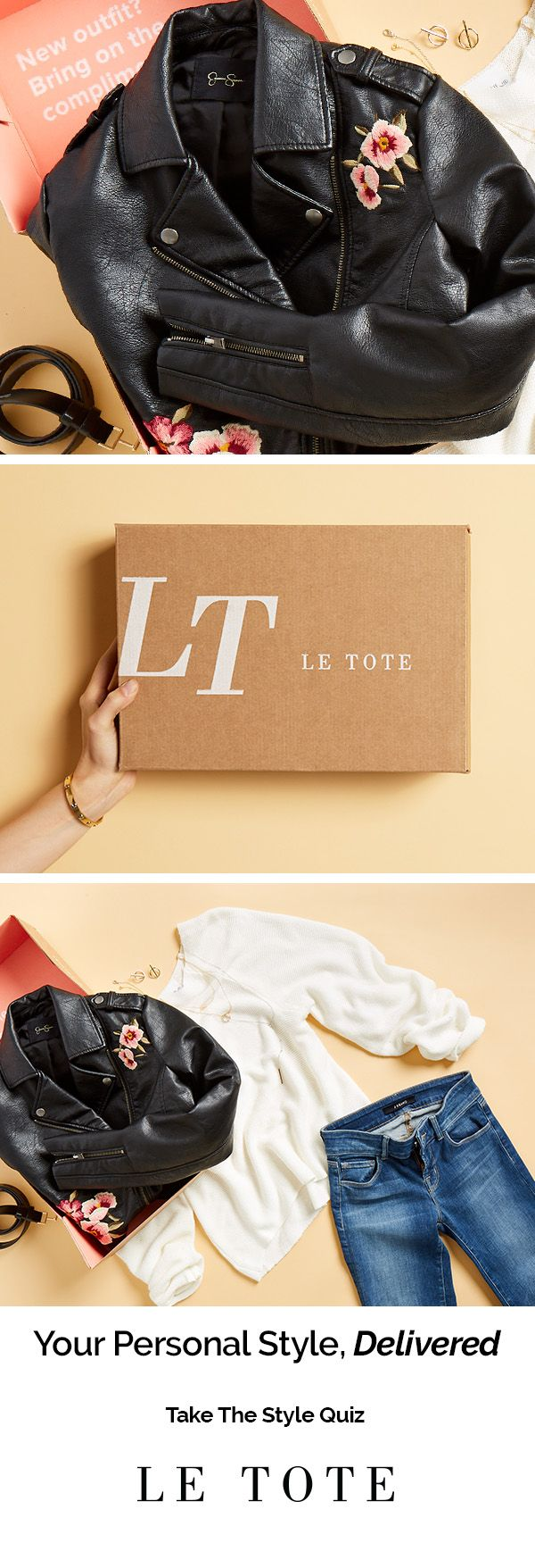 From timeless classics to the latest trends, whatever you need Le Tote has you covered. Take the Style Quiz and get your first tote delivered straight to your door. Own your style, rent your fashion with Le Tote.