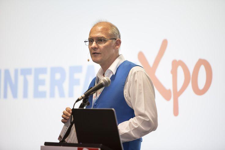 INTERFACE Editor and Xpo host Greg Adams