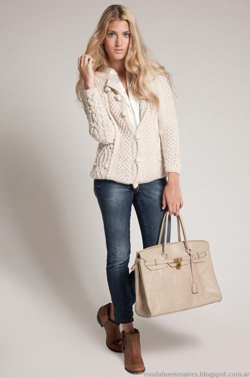 Sacos moda invierno 2013 ropa tejida Agostina Bianchi