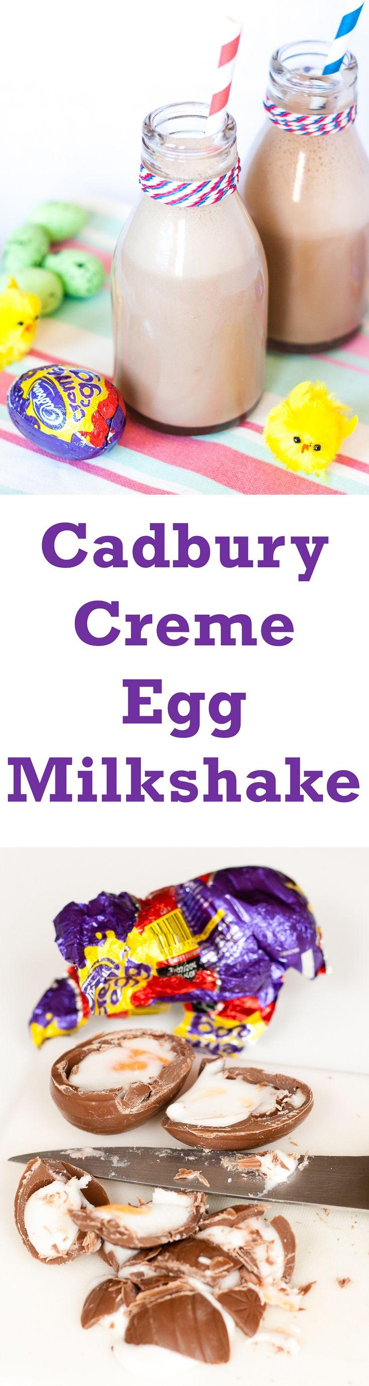 Cadbury Creme Egg Milkshake (Vegetarian)