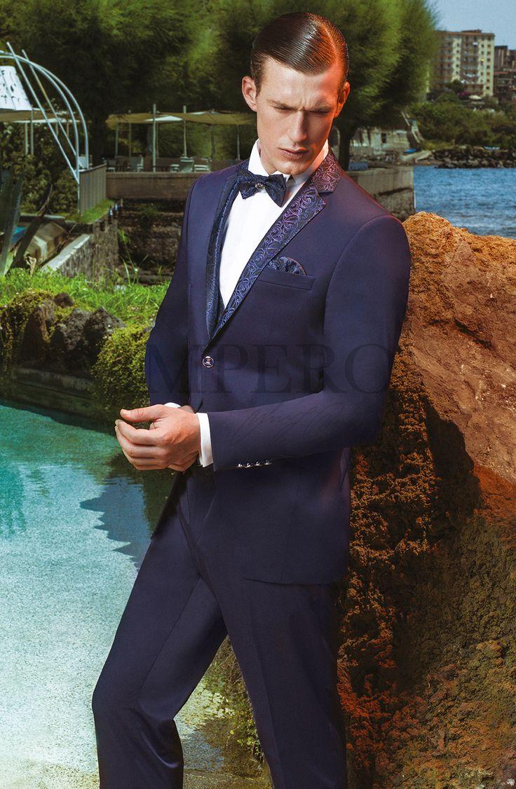 EG 78-17 #sposo #groom #suit #abito #wedding #matrimonio #nozze #blu #blue #papillon