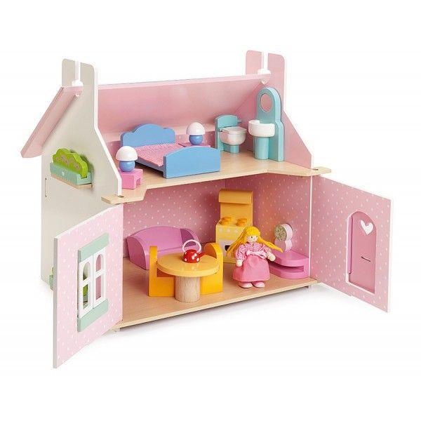 """Le Toy Van 117 Деревянный кукольный домик """"Маргаритка"""" с мебелью двухэтажный"""