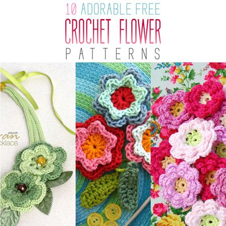 Get your crochet hooks out my friends because you are going to want to use all of the Adorable Free Crochet Flower Patterns! Each cuter than the other!
