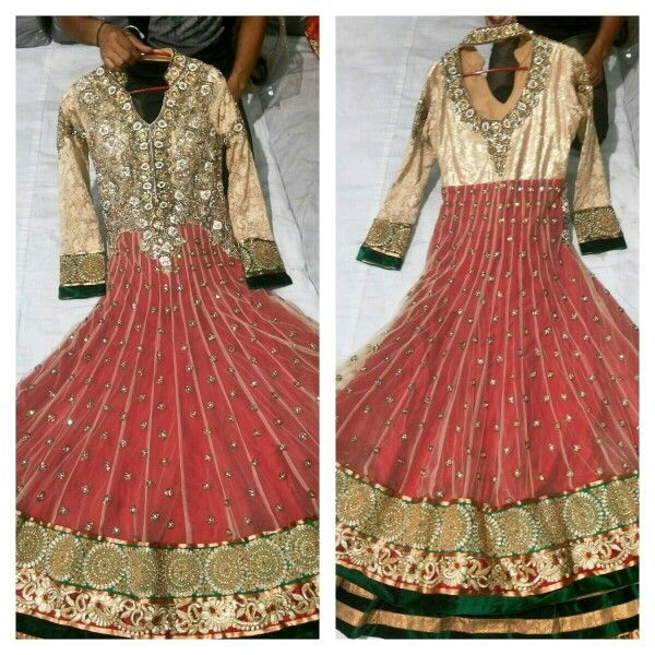 Designer frock suit  #anarkali #indiandress #indianoutfit  Source  www.facebook.com/jaincloth