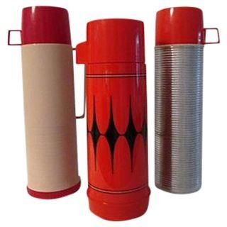 Red Retro Thermoses- Set of 3