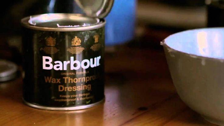 Re-Waxing Your Barbour Jacket - Lark, via YouTube.