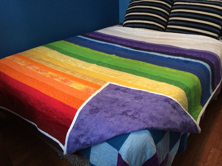 Labybug healing is selling this queen blanket check it out at ladybug healing on Facebook!  #crystals #chakra blankets #rainbowcolours #quiltstosell #ladybughealing