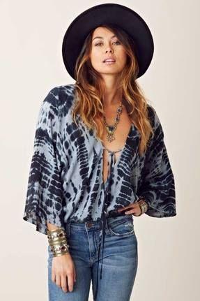 Blu Moon Kimono Criss Cross Top in Smoke https://www.facebook.com/TheTrendBoutiqueCoupon