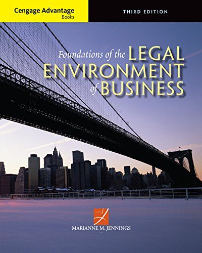 Cengage Advantage Books: Foundations of the Legal Environment of Business:   With more than 200 real-world cases and critical-thinking exercises, FOUNDATIONS OF THE LEGAL ENVIRONMENT OF BUSINESS, 3E helps readers define their ethical compass within the business world. Authored by a renowned scholar of business ethics, it uses an integrated approach to thoroughly explore the intersection of law, business strategy, and ethics. A concise legal environment text, it covers all core topics a...