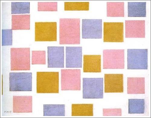 モンドリアン【Composition with Color Planes No.3】 - 絵画(油絵複製画)販売「アート名画館」 - 祝い事のプレゼントにも大人気!